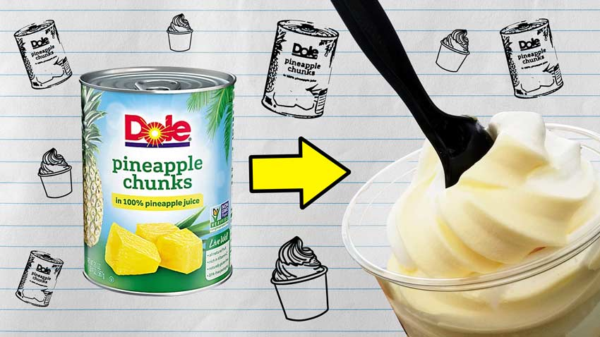 """How to Make Dairy-Free """"Dole Whip"""" with TWO Ingredients!"""