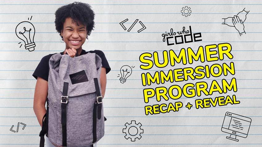 Girls Who Code Summer Immersion Program 2021 Recap