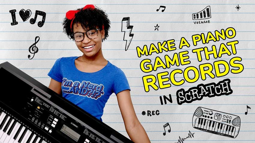 Scratch Tutorial: How to Make a Piano Game that Records Your Songs