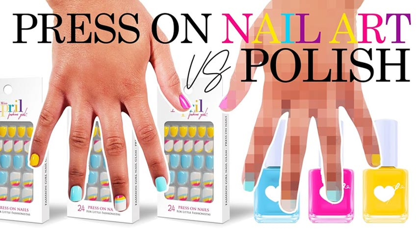 Press on Nails vs. Nail Polish!