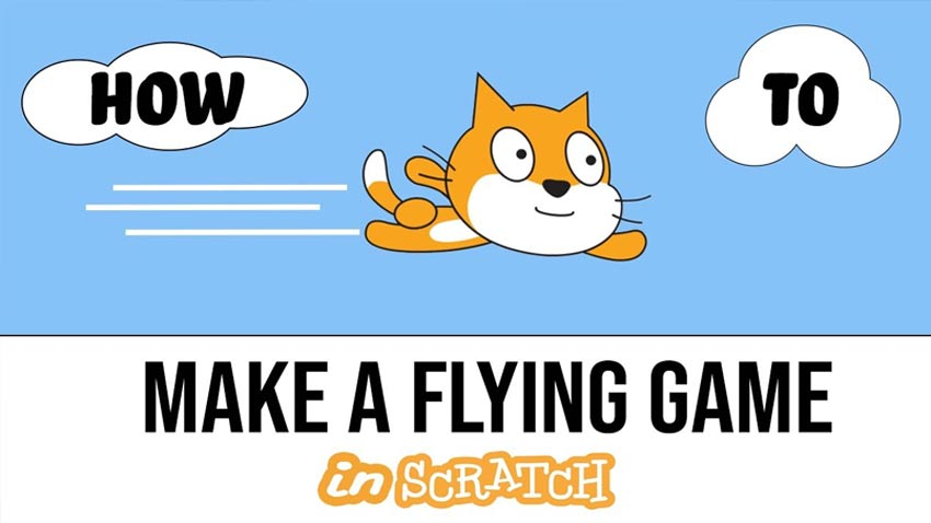 How to Make a FLYING game in Scratch: Coding