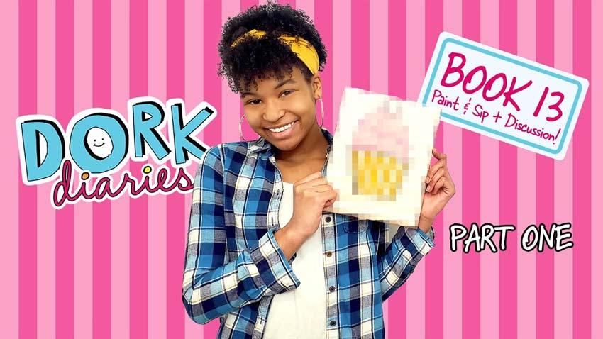 Dork Diaries Themed Paint 'n' Sip Highlights
